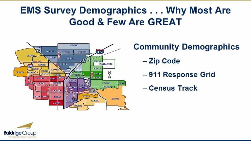 EMS Survey Demographics – Why Most Are Good & Few Are Great